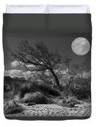 Full Moon Over Jekyll Duvet Cover by Debra and Dave Vanderlaan