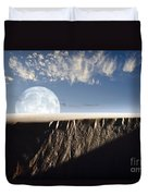 Full Moon Rising Above A Sand Dune Duvet Cover by Roth Ritter