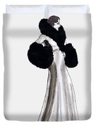 Fur Coat Duvet Cover by Mel Thompson