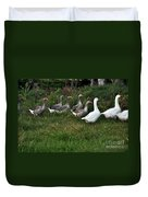 Gaggle Of Geese Duvet Cover by Kaye Menner