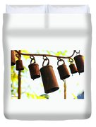 Garden Noah Bells 2 Duvet Cover by Cheryl Young