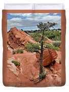 Garden Of The Gods  - The Name Says It All Duvet Cover by Christine Till