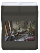 Garnet Ghost Town Hotel Parlor - Montana Duvet Cover by Daniel Hagerman