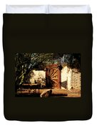 Gate To Cowboy Heaven In Old Tuscon Az Duvet Cover by Susanne Van Hulst