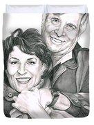 Gene And Majel Roddenberry Duvet Cover by Murphy Elliott