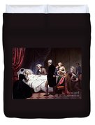 George Washington On His Death Bed Duvet Cover by Photo Researchers
