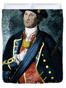 George Washington, Virginia Colonel Duvet Cover by Photo Researchers, Inc.