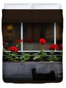 Geranium Flower Box Duvet Cover by Doug Sturgess