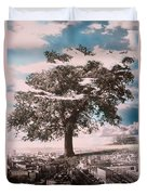 Giant Tree In City Duvet Cover by Hag