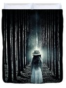 Girl In The Forest Duvet Cover by Joana Kruse