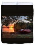 Give Me A Canoe Duvet Cover by Lori Deiter