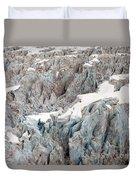 Glacial Crevasses Duvet Cover by Mike Reid