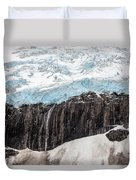 Glacial Edge Waterfall Duvet Cover by Mike Reid