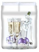 Glasses Of Champagne Duvet Cover by Amanda And Christopher Elwell