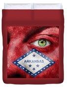 Go Arkansas  Duvet Cover by Semmick Photo