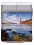 Golden Gate At Dawn Duvet Cover by Brian Jannsen