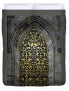 Golden Window - St Vitus Cathedral Prague Duvet Cover by Christine Till