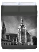 Gothic Saint Vitus Cathedral In Prague Duvet Cover by Christine Till