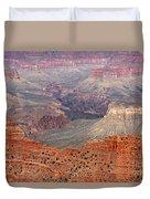 Grand Canyon Crimson Ridge Duvet Cover by Michael Kirsh