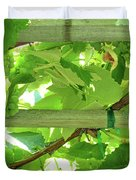 Grape Arbor Duvet Cover by Methune Hively