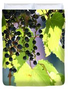 Grapes And Leaves Duvet Cover by Michal Boubin