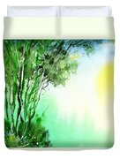 Green 1 Duvet Cover by Anil Nene