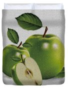 Green Apples Duvet Cover by Cheryl Young