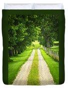 Green Farm Road Duvet Cover by Elena Elisseeva