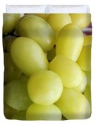 Green Grapes and Purple Mum Duvet Cover by Barbara Griffin