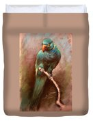 Green Parrot Duvet Cover by Ylli Haruni