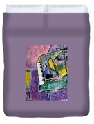 Green Piano Side View Duvet Cover by Anita Burgermeister