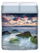 Green Stones Duvet Cover by Evgeni Dinev