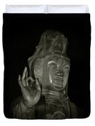 Guan Yin Bodhisattva - Goddess Of Compassion Duvet Cover by Christine Till