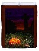 Halloween Cemetery Duvet Cover by Amanda Elwell