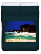 Halona Blowhole Duvet Cover by Cheryl Young