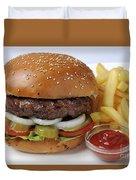Hamburger  Duvet Cover by Ilan Amihai