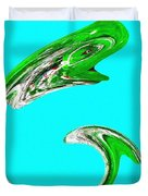 Hammer Tail Whale Duvet Cover by Will Borden