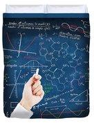 Hand Writing Science Formulas Duvet Cover by Setsiri Silapasuwanchai