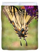 Hanging On Duvet Cover by Darren Fisher