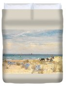 Harvesting The Land And The Sea Duvet Cover by William Lionel Wyllie