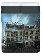 Haunted House Duvet Cover by Jutta Maria Pusl