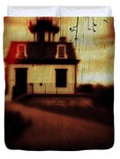 Haunted Lighthouse Duvet Cover by Edward Fielding