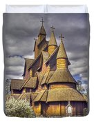Heddal Stave Church  Duvet Cover by Heiko Koehrer-Wagner