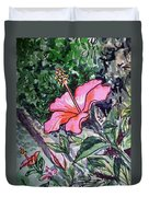 Hibiscus Sketchbook Project Down My Street  Duvet Cover by Irina Sztukowski