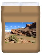Hiking The Moab Rim Duvet Cover by Gary Whitton