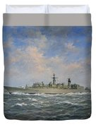 H.m.s. Chatham Type 22 - Batch 3 Duvet Cover by Richard Willis