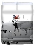 Hoisting The Colors Duvet Cover by Greg Fortier
