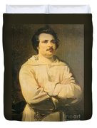 Honore De Balkzac, French Author Duvet Cover by Photo Researchers