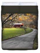 Hoosier Autumn - D007843a Duvet Cover by Daniel Dempster