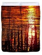 Horicon Marsh Sunset Wisconsin Duvet Cover by Steve Gadomski
